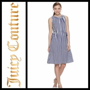 Juicy couture Jolie Blue Striped Dress NWT